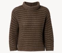 Grobstrick-Cashmere-Pullover 'Bento' Fango
