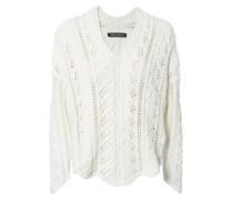 Grobstrick-Pullover 'Jodie' Weiß
