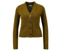 Cashmere-Cardigan mit Knopfverschluss Khaki