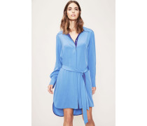 Blusenkleid 'Oversized Shirt Dress' Blau