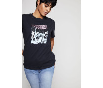 T-Shirt 'Lonesome Tonight' Washed Black