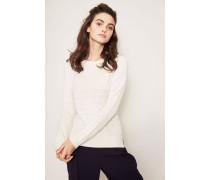 Pullover mit Streifendesign 'Écru'