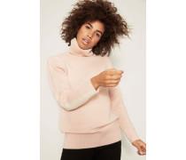 Cashmere-Pullover mit Rollkragen Rosé