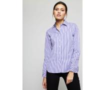 Gestreifte Bluse Violette/Weiß
