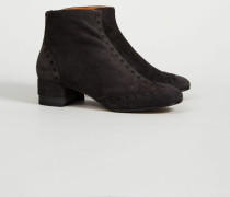 Velourleder-Stiefelette 'Bruxelle' Charcoal