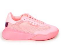 Lederimitat-Sneaker 'Runner Loop' Neonpink
