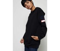Sweater mit Kapuze 'Fog Capsule' Schwarz