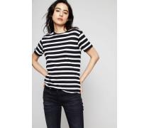 Gestreiftes T-Shirt Schwarz/Weiß