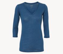 Basic Shirt mit 3/4-Ärmeln Oceanblue