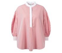Baumwoll-Bluse mit Streifendetails