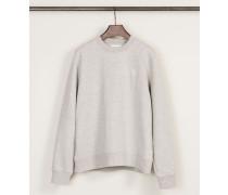 Baumwoll-Sweatshirt 'Wednesday' Grau Mélange