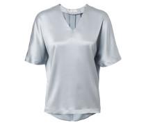 Seiden-Shirt Sky Blue