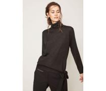 Cashmere-Seiden-Pullover Anthrazit