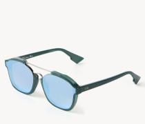 Verspiegelte Sonnenbrille 'Abstract' Grün