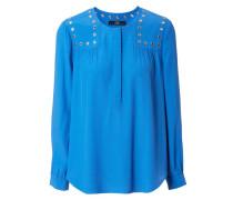 Bluse mit Ösendetails Blau