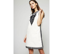 Kleid 'Embroidered Dress' Ivory Multi