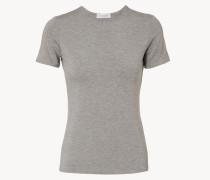 Basic-Shirt mit Rundhals-Ausschnitt Grau