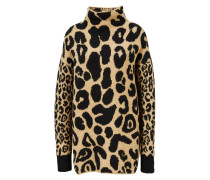 Baumwoll-Alpaca-Pullover 'Leopard Mix Jumper' Multi