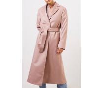 Langer Cashmere-Mantel mit Gürtel