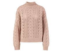 Cashmere-Seiden-Pullover mit Pailletten-Details