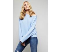 Oversized Cashmere-Pullover Blau