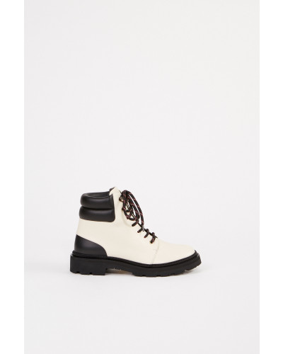 Ankle Lace-up Boots 'Ganya' Schwarz/Creme