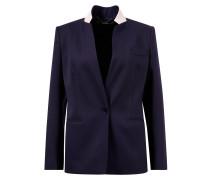 Langer Woll-Blazer Marineblau/Rosé