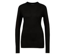 Seiden-Pullover mit Rundhalsausschnitt Schwarz