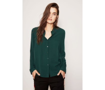 Seidenbluse 'Therese' Smaragd