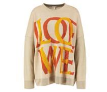 Leinen-Baumwoll Pullover mit Logo