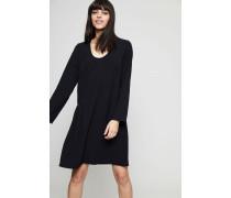 Langarm-Kleid 'Jorny' mit Ziernähten Schwarz