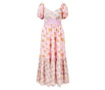 Florales Volant-Kleid 'Angie' Pink/Multi