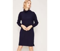 Cashmere-Kleid mit Rollkragen Marineblau