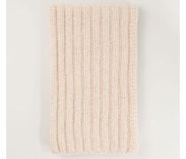 Grob gestrickter Schal 'Elena' Natur/Rosé