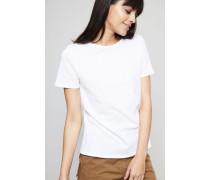 T-Shirt 'Rosalie' mit Lochmuster Weiß