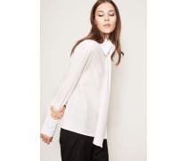 Baumwoll-Bluse Weiß