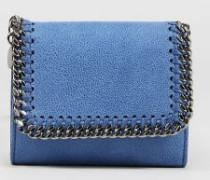 Kleines Portemonnaie 'Small Flap Wallet' Denim