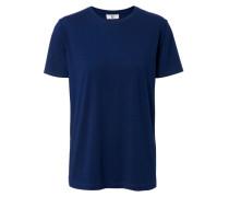 Lockeres T-Shirt mit kurzem Arm Marine