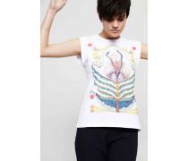 T-Shirt mit Fantasie-Print Weiß/Multi