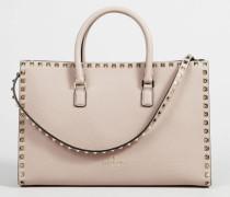 Handtasche 'Rockstud Satchel' mit Nieten Rosé