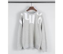 Sweatshirt mit Logo-Detail Grau