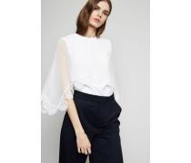 Shirt mit Seiden-Details Weiß