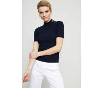 Geripptes Kurzarm-Shirt 'Carey' Navy