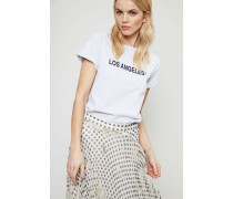 T-Shirt 'Los Angeles' Gris Chine