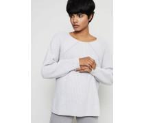 Cashmere-Pullover mit Grau