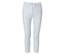 Gepunktete Baumwollhose Blau/Weiß