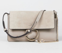 Schultertasche 'Faye Small' mit Velourslederelementen Motty Grey