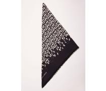 Schal mit Muster 'Tina' Schwarz/Beige