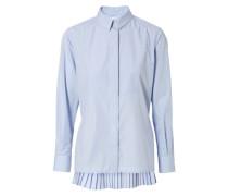 Bluse mit rückseitigen Plisséefalten Blau
