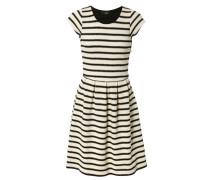 Gestreiftes Kleid aus Baumwolle Marine/Weiß